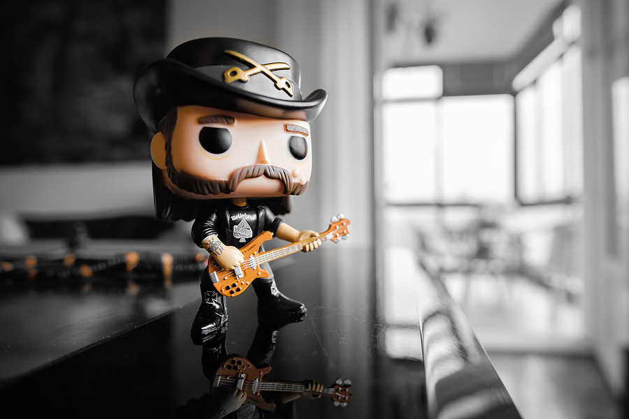 Pop vinyl figure of Lemmy Kilmister, the bassist and frontman of the Motorhead